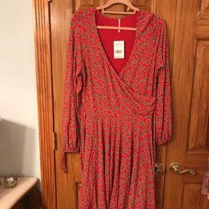 Free People Jersey Faux Wrap Dress